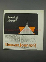 1966 Howard Johnson's Motor Lodges Ad - Growing Strong