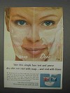 1966 Dove Soap Ad - Take This Simple Face Test