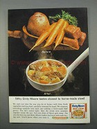 1966 Dinty Moore Beef Stew Ad - Before After