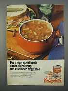 1966 Campbell's Old Fashioned Vegetable Soup Ad