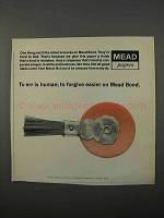 1966 Mead Bond Paper Ad - To Err is Human