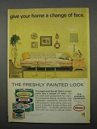 1966 Glidden Spred Satin Paint Ad - Change of Face