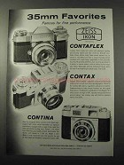 1959 Zeiss Contaflex, Contax and Contina Camera Ad
