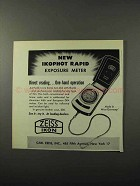 1956 Zeiss Ikophot Rapid Exposure Meter Ad - One-Hand