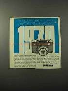 1970 Zeiss Contaflex Super BC(QL) Camera Ad