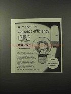 1960 Zeiss Icoblitz 4 BC Flash Unit Ad - Efficiency