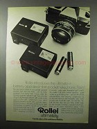 1972 Rollei E19BC Flash and E15B Flash Ad - Ultimate