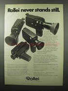 1971 Rollei SL81, SL82, SL83, SL84 Movie Cameras Ad