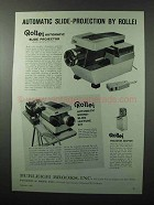 1962 Rollei Automatic Slide Projector, Lecture Kit Ad