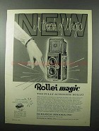 1961 Rollei Magic Camera Ad - A Touch of Magic