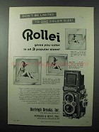 1957 Rollei Rolleiflex Camera Ad - Don't Be Limited