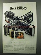 1966 Polaroid Color Pack Cameras Ad - Be A Killjoy