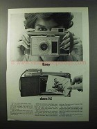 1962 Polaroid Model J33 Land Camera Ad - Easy Does It