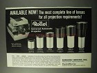 1963 Rollei Universal Automatic Projector, Lenses Ad