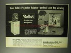 1963 Rollei Projector Adapter Ad - Table Top Viewing