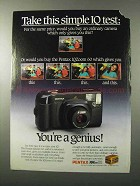 1989 Pentax IQZoom 60 Camera Ad - Simple IQ Test