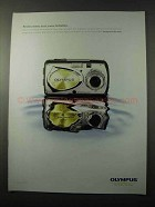 2003 Olympus Stylus Digital Camera Ad - Resists Water