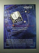2000 Olympus Stylus Epic Zoom 80 Camera Ad - Pocket