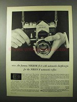 1960 Nikon F Camera and 58mm Auto-Nikkor f/1.4 Lens Ad - The Famous