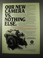 1981 Minolta XG-M Camera Ad - Our Camera Vs. Nothing