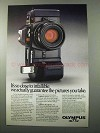 1987 Olympus OM-77AF Camera Ad - Close to Infallible