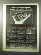 1978 Minolta 110 Zoom SLR Camera Ad - Popular Idea