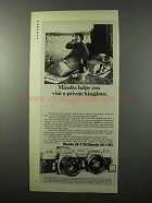 1973 Minolta SR-T 101, SR-T 102 Camera Ad - Kingdom