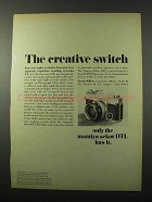1969 Mamiya/Sekor 1000 DTL Camera Ad - Creative Switch