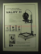 1957 Leitz Valoy II Enlarger Ad - Precision