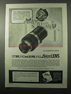 1945 Leica Lenses and Universal Viewfinder Ad