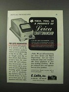 1943 Leitz Colorimeter Ad - Product of Craftsmanship