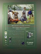 2003 Canon Optura 300 Camcorder Ad - Which Decision