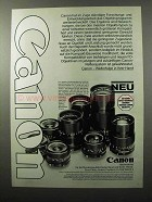 1979 Canon Camera Lenses Ad - in German