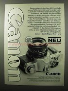 1979 Canon AV-1 Camera Ad - in German