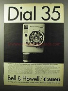 1964 Bell & Howell / Canon Dial 35 Camera Ad!