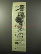 1960 Canon Zoom 8 Movie Camera Ad - Widest Range