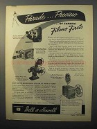 1945 Bell & Howell Filmo Aristocrat Movie Camera Ad