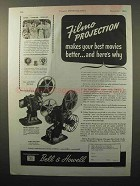 1944 Bell & Howell Filmo-Master 400 Movie Projector Ad