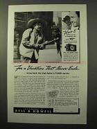 1940 Bell & Howell Filmo Movie Cameras Ad - Vacation