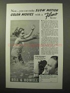 1938 Bell & Howell Filmo Movie Cameras Ad - Slow Motion