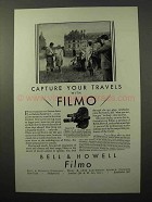 1930 Bell & Howell Filmo 70-D Movie Camera Ad - Capture