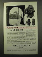 1929 Bell & Howell Filmo 70-D 70-A & 75 Movie Camera Ad - Relive
