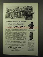 1929 Bell & Howell Filmo 70-D 70-A & 75 Movie Camera Ad