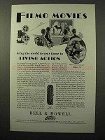 1929 Bell & Howell Filmo 70 and 75 Movie Cameras Ad