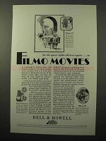 1929 Bell & Howell Filmo 75, 70 Movie Camera Ad