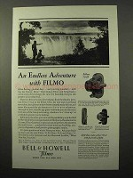 1929 Bell & Howell Filmo 70-D 70-A & 75 Movie Camera Ad - Adventure