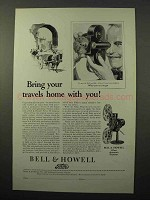 1928 Bell & Howell Filmo 70 Camera & Projector Ad