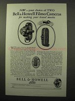 1928 Bell & Howell Filmo 70 and 75 Movie Cameras Ad