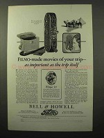 1928 Bell & Howell Filmo 75 and 70 Movie Cameras Ad