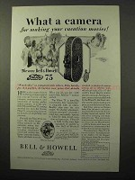 1928 Bell & Howell Filmo 75 Movie Camera Ad - Vacation